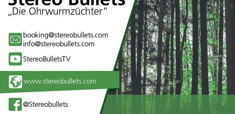 Stereo Bullets – Visitenkarte Vorderseite