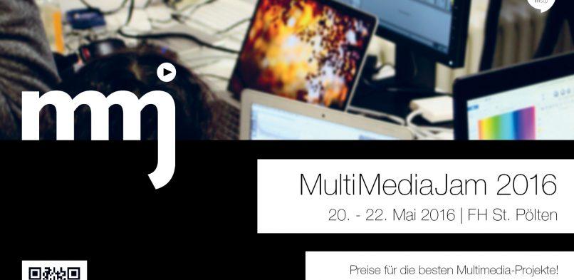 Multimediajam FH St. Pölten 2016 – Flyer